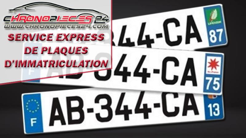 Service de plaques d'immatriculations de véhicules