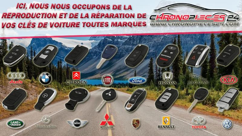 Service de réparation et de reproduction de clés et cartes télécommandées de voiture